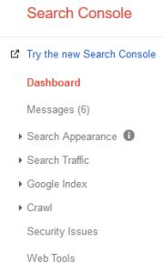 Google Search Console Beta